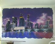 Роспись стен и панно-барельефы